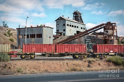 Photograph - Broken Hill Mine Head by Stuart Row