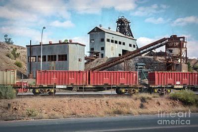 Photograph - Broken Hill Mine Head by Stuart Row
