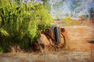 Photograph - Broken Hill Wreck by Stuart Row