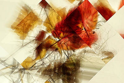 Broken Leaves Art Print by Martine Affre Eisenlohr