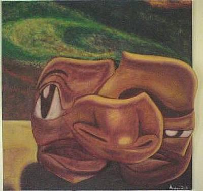 Self-portrait Mixed Media - Broken Man Vol. 2 by Andre Andrews