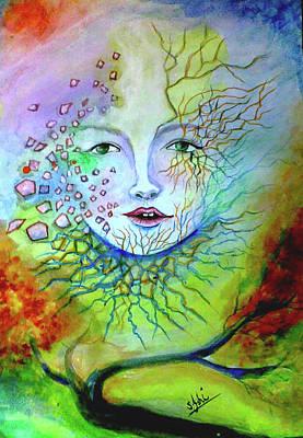 Syeda Ishrat Painting - Broken Ozone Layer In The Sky by Syeda Ishrat