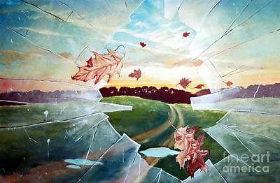 Painting - Broken Pane by Christopher Shellhammer