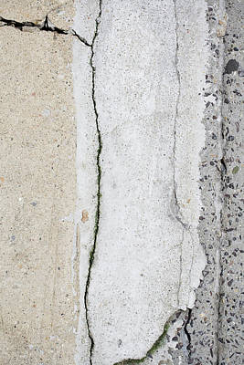 Broken Pavement Art Print