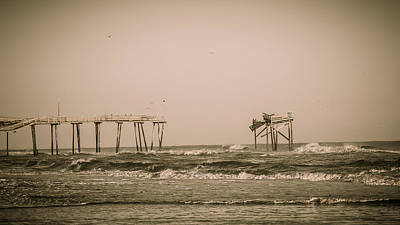 Photograph - Broken Pier At Nags Head by Joni Eskridge