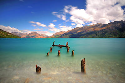 Broken Pier At Sea Art Print by Photography By Anthony Ko