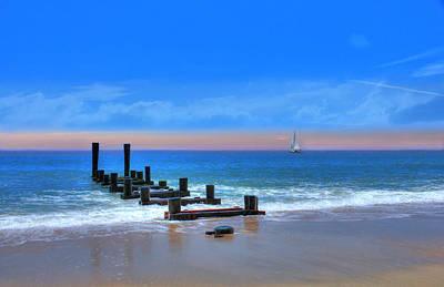 Digital Art - Broken Pier by Sharon Batdorf