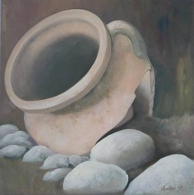 Painting - Broken Pot by Caroline Philp