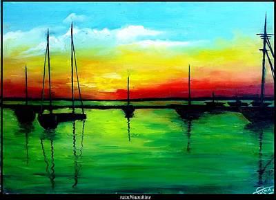 Painting - Broken Rainbow by Trinath Sen