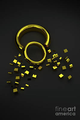 Digital Art - Broken Ring 002 by Clayton Bastiani