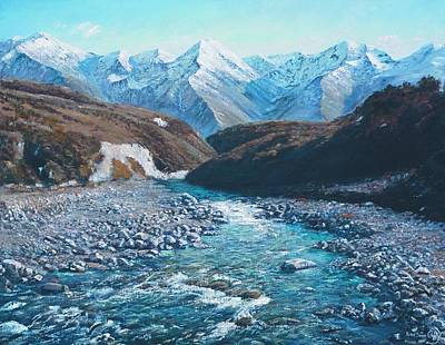 Painting - Broken River by Peter Jean Caley