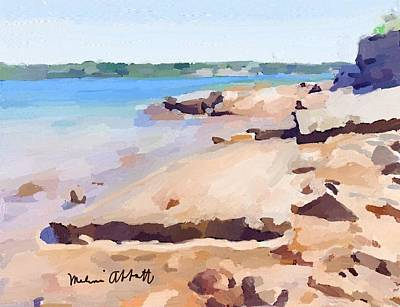 Broken Rock Walkway At Ten Pound Island Beach Art Print
