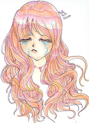 Crying Drawing - Broken by Shelby Davis