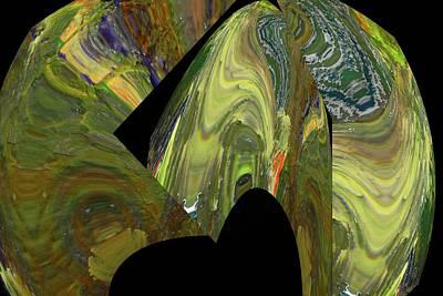 Broken Spehres Abstract Art Print by Jeff Swan