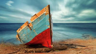 Wreckage Photograph - Broken by Stelios Kleanthous