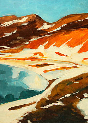 Painting - Broken Top Crater by Nancy Merkle