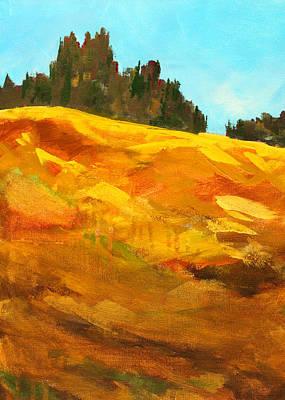 Sunriver Painting - Broken Top Flank by Nancy Merkle
