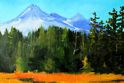 Painting - Broken Top Mountain by Nancy Merkle