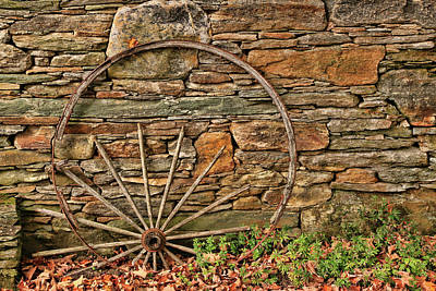 Photograph - Broken Wagon Wheel by Allen Beatty