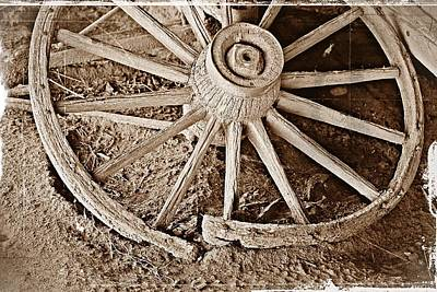 Photograph - Broken Wagon Wheel- Fine Art by KayeCee Spain
