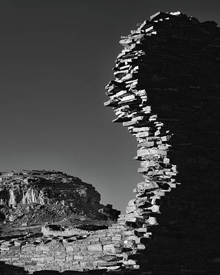 Chaco Canyon Photograph - Broken Wall by Joseph Smith