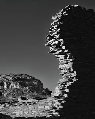 Chaco Canyon Photograph - Broken Wall by Joseph Smith