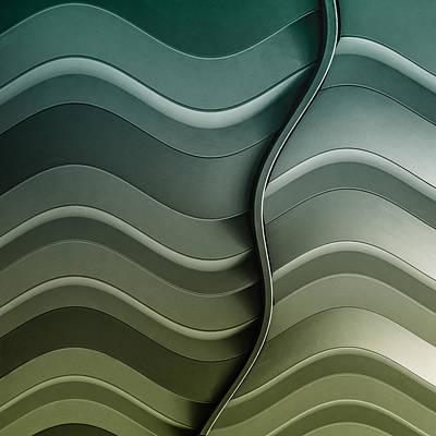 Steel Photograph - Broken Waves by Luc Vangindertael