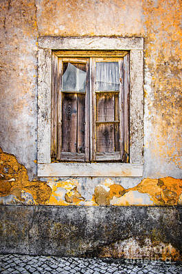 Rubble Photograph - Broken Window by Carlos Caetano