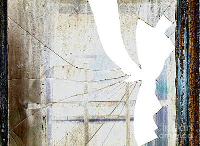 Photograph - Broken Window by Michal Boubin