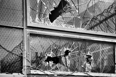 Photograph - Broken Windows B_w by John McArthur