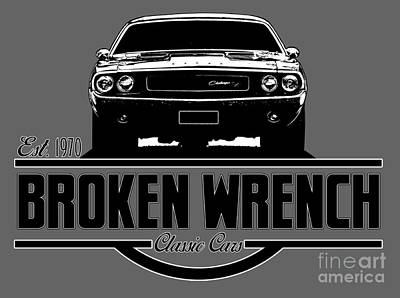 Challenger Digital Art - Broken Wrench Challenger by Paul Kuras