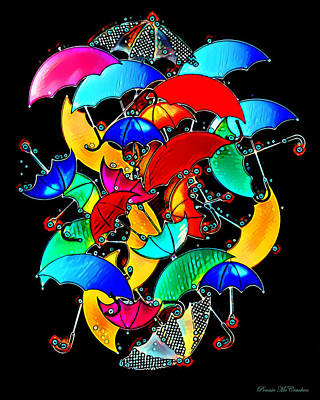 Digital Art - Brollies by Pennie McCracken
