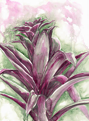 Painting - Bromeliad by Ashley Kujan