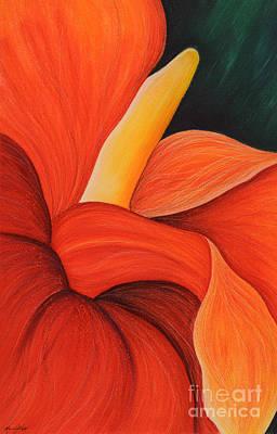 Bromeliad Drawing - Bromeliad Flower by Marcia J Popp