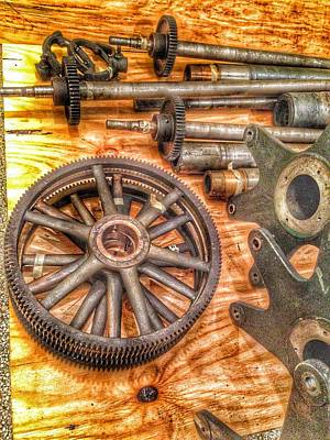 Steam Punk Photograph - Bromo Seltzer Tower's 1911 Seth Thomas Clock Mechanism Abstract #2 by Marianna Mills