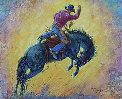 Painting - Bronc Buster by Tanja Ware