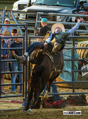 Photograph - Bronc Rider #1 by Jeff Kurtz