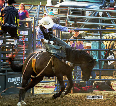 Photograph - Bronc Rider #2 by Jeff Kurtz
