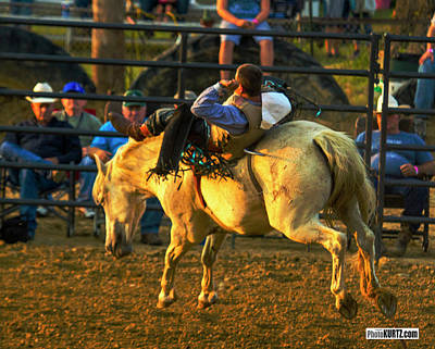Photograph - Bronc Rider #3 by Jeff Kurtz