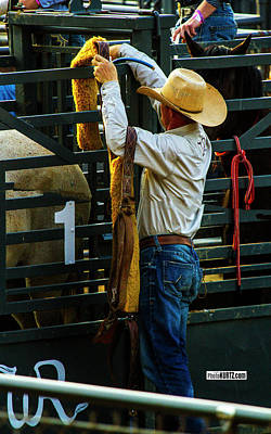 Photograph - Bronc Rider Prep by Jeff Kurtz