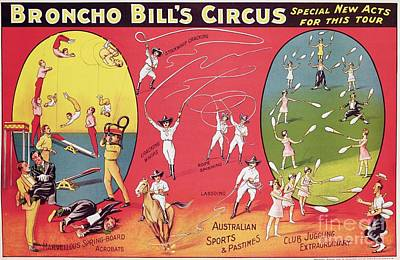 Bronco Bills Circus Art Print by English School