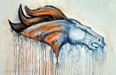 Painting - Bronco by Jennifer Godshalk