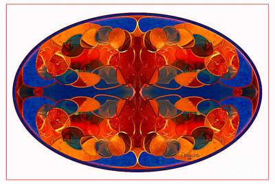 Digital Art - Bronco Mandala Abstract Macro Transformations By Omashte by Omaste Witkowski