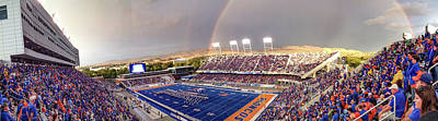 Bronco Stadium Panoramic Art Print by Lost River Photography