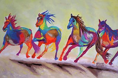 Broncos Art Print by Arturo Garcia