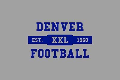 Broncos Retro Shirt Art Print