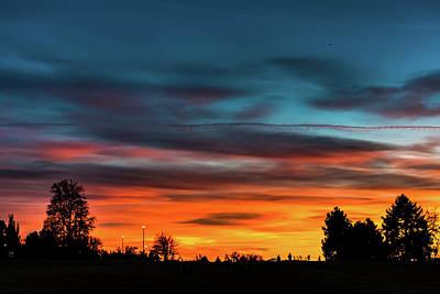 Photograph - Broncos Sunset In Denver by Philip Rodgers