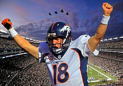 Broncos Win Super Bowl Fifty Art Print by John Malone