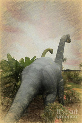 Photograph - Brontosauras by Scott Cameron