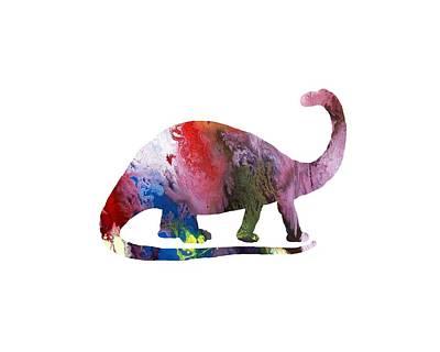 Dinosaur Mixed Media - Brontosaurus by Mordax Furittus